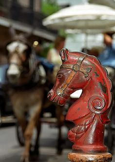 horse head hitching post, bourbon street, new orleans #frenchquarter #nola