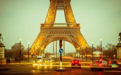 France Eiffel Tower night paris wallpaper x