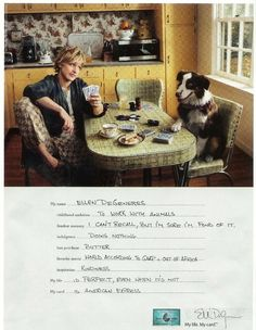 2007 American Express with Ellen Degeneres (Television Stars) at Ads By Dee Ellen And Portia, Ellen Degeneres, Magazine Ads, I Card, I Laughed, Playing Cards, Childhood, Africa, Memories