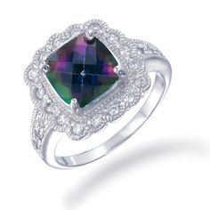 I want this for my anniversary! somebody be a good friend and tell Justin! 8MM Cushion Cut Natural Mystic Topaz Ring In Sterling Silver 2.90 CT (Available In Sizes 5 - 9) FineDiamonds9, http://www.amazon.com/dp/B008H6FOGO/ref=cm_sw_r_pi_dp_o3Hrrb0GXTV3J