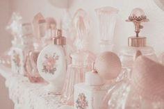Girly perfume bottles
