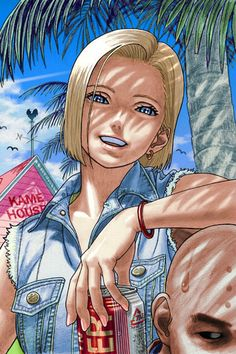 Android 18 and Krillin fan art Dbz Manga Anime, Art Anime, Anime Artwork, Android 18 And Krillin, Krillin And 18, Dragon Ball Z, Fan Art, Arte Nerd, Super Anime