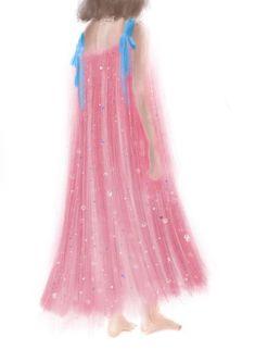 #drawing #dress #color #gradient #artwork #sketch #illustration #fashion #design #graphic #beauty #glitter #pink