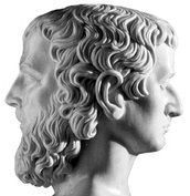 JANUS is the two-faced god of beginnings, limits, doors, gateways, and departure.