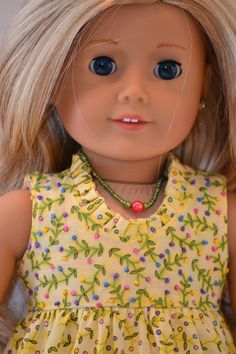American Girl  Doll Clothing. Scoop neck dress ensemble.