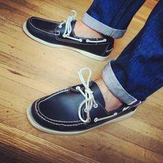 Zapatos náuticos azul marino