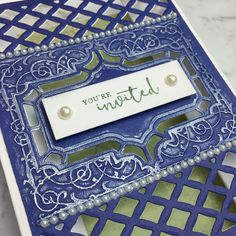 Garden Trellis, Youre Invited, Facebook Instagram, Embossing Folder, Craft Stores, All Things, Invitations, Frame, Projects