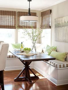 Large or small, breakfast nooks are a perfect way to make the most of extra space in or near your kitchen. Get breakfast nook design ideas, see how to add a breakfast nook with storage, and how to tuck a breakfast nook just about anywhere.