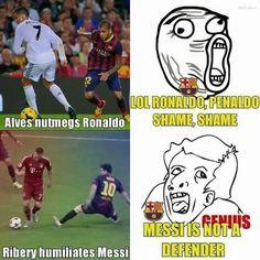 Lol Ronaldo, Penaldo Wstyd Wstyd • Lionel Messi nie jest obrońcą • Fani FC Barcelony o Cristiano Ronaldo i Messim • Wejdź i zobacz >> #barca barcelona #fcbarcelona #football #soccer #sports #pilkanozna