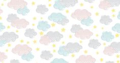 Clouds and Stars #patterndesign #photoshoppattern #seamlesspattern
