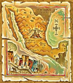 Cute #map of #Mexico, with the city of San Miguel highlighted, by Tim Zeltner