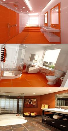 Orange Bathroom Decorating Ideas The Color Orange Is A Bright Color With A Pleasant And