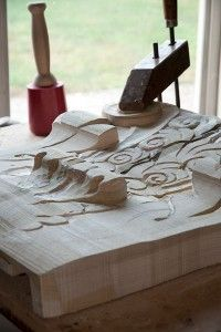 Henry Chupp..Amish woodcarver from Nappanee,In.  REALLY fine woodworker!!