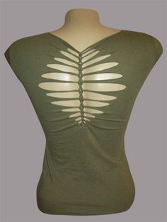 Juniors / Womens Olive Top Special Cut Shirt by LasciviousGrace, $24.00