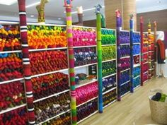 Wollmeise at Knit Nation... Colour!! My house is going to look like that if I don't watch it