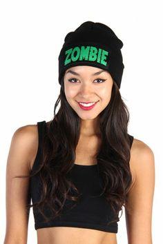Zombie Beanie - Black