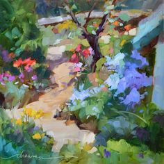 """""""Garden of Ms Robin""""  Colorful Paintings and Inspired Writings by Artist Dreama Tolle Perry"""