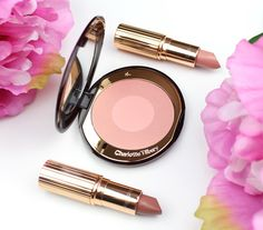 Rosy Disposition | Charlotte Tilbury, Be My Valentine?  - Charlotte Tilbury K.I.S.S.I.N.G Kissing Lipstick in Valentine, Matte Revolution Lipstick in Pillow Talk and Cheek to Chic Blush in Love Glow -  2017 Spring Limited Edition