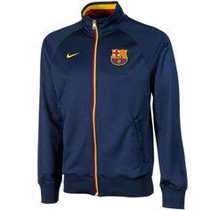 Nike Barcelona FC 2012/13 Core Trainer Full Zip Jacket - Navy Blue