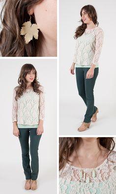 Lacy shirt.