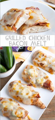 Grilled Chicken Bacon Melt - Kitchen Original with mommyrecipes. Low Carb Recipes, Diet Recipes, Cooking Recipes, Healthy Recipes, Recipies, Grilling Recipes, Chicken Bacon, Grilled Chicken, Chicken Recipes