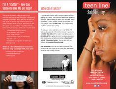 Teenline Self Injury Brochure