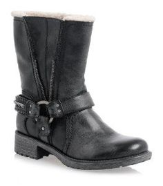 Guess Womens Satria Black Leather Combat Boot 11 M US
