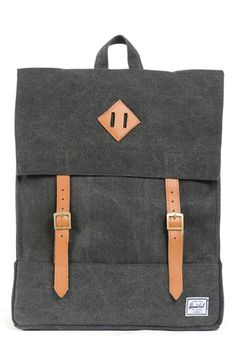 GOOD AS GOLD — SURVEY canvas backpack, black
