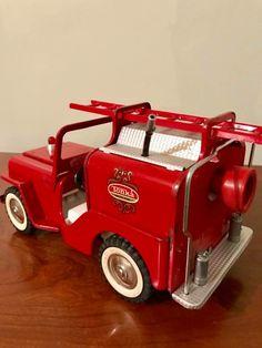 Tonka Fire Truck, Tonka Trucks, Tonka Toys, Fire Trucks, 1980 Toys, Metal Toys, Old Toys, Heavy Equipment, Vintage Toys
