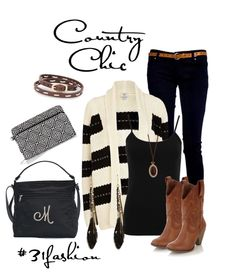 Country Chic accessories that go with any look. Our Everything Crossbody, perfect cents wallet and leather stitch bracelets. #31fashion