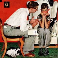 Marmont Hill Facts of Life Norman Rockwell Painting Print on Canvas
