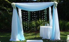 DIY wedding decorations/  Chupah.... I love the idea of it, but maybe theres an easier way to.  something similar???