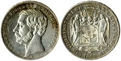 Schaumburg-Lippe, 1865, 1 Vereinstaler (Gedenkprägung), Adolf Georg, vz.+, Auflage nur 7000 Stück, Battenberg 19(16)