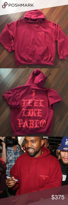"Kanye West ""I feel like Pablo""Album Release Merch Hoodie Never worn! *Limited Edition* Yeezy Sweaters"