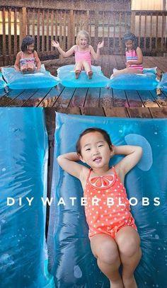 HOW TO MAKE MINI WATER BLOBS #summerdecoratingideashowtomake