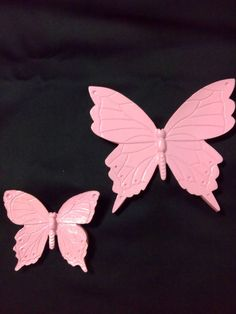 Butterfly for baby girl... wall decor 2 pcs by HIPPYANNE on Etsy