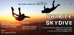 Come and join us and skydive for charity!
