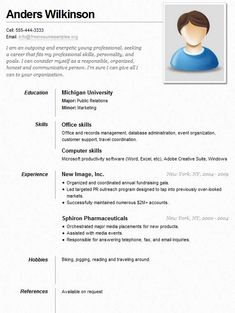Example of a neat and clean resume