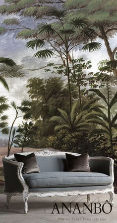 Bali wallpaper, France, Ananbo ~ British Colonial theme.