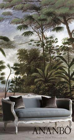 Bali wallpaper, France, Ananbo ~ British Colonial theme.