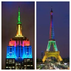 #Mandela The world's capitals were lit up in South African colours last night in celebration of Madiba