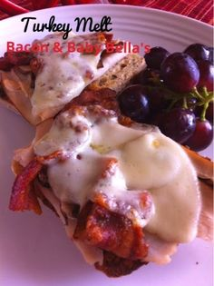 """Turkey Melt with Bacon & Baby Bella's and 10 """"Bonus"""" trivia facts about bacon!"""