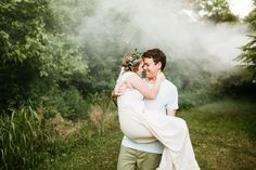 St. Louis Wedding Photography, Engagement Photography, Flower Crown Engagement, Smoke Bomb Engagement, Boho Engagement, Bohemian, Engagement Outfits / Courtney Smith Photography