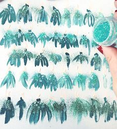 Painted Gift Wrap, by Katie Rodgers / Paper Fashion