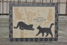 Nine Lives With You Card by Heather Nichols for Papertrey Ink (August 2014)