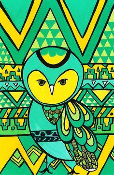 Aztec Owl... by Vivien Dumpangol