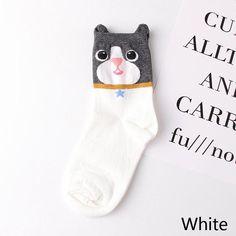 fa3bc7b5a Hot 3-D Animal Cat Dog Socks. Cartoon EarsCute Cartoon Girl3d ...