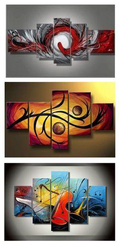 "Gran Brown Crema Abstractos tela pared arte imagen dividida de 4 paneles de 40 /""X 28/"""