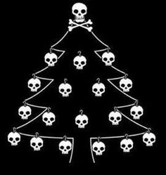 Shop Skull Christmas Tree Holiday Card created by opheliasart. Personalise it with photos & text or purchase as is! Heavy Metal Christmas, Metal Christmas Tree, Dark Christmas, A Christmas Story, Little Christmas, Christmas Humor, Christmas Tree Decorations, Merry Christmas, Xmas