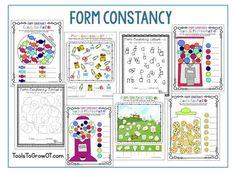 Occupational Therapy resources that address visual perceptual form constancy skills. Visual Perceptual Activities, Pediatric Ot, Visual Memory, Occupational Therapy, Fine Motor, Perception, Activities For Kids, Memories, Tools